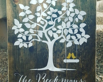 Wedding tree signature sign