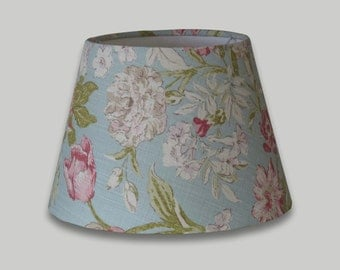 Campagna Blue Pink White Floral Empire Lampshade Tapered Lamp Shade 25cm 30cm 35cm 40cm 50cm 60cm 70cm Table Floor Ceiling Lightshade