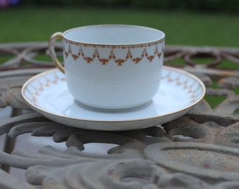 Vintage Limoges French bone china cups Sarlangeas