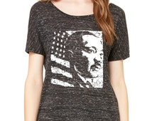 MLK Martin Luther King Day USA American Flag Slouchy Tee