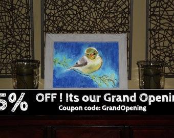 Acrylic Painting Printed as Giclee Print, Wall Art, Painting, Art, Mixed Media Bird Painting Print