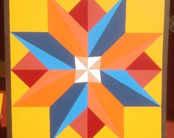 "Multi-pointed Star Barn Quilt 36"" x 36"""