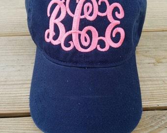 Monogram Baseball Hats