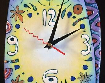 """Ceramic wall clock """"Cat Romeo"""""""