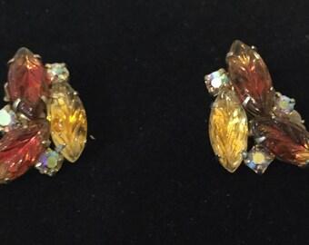 Spectacular 1950's Rhinestone Earrings