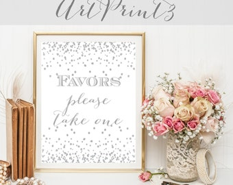Wedding Favors Sign Printable, Bridal Shower Favors Sign, Anniversary Party Favors Sign, Birthday Party Favors Sign, Printable Favors Sign