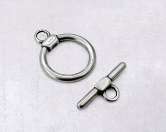1 x Set 316L Stainless Steel Bar & Ring Toggle Clasp - Surgical Grade