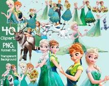 Disney Frozen Fever Clipart  transparent background  png format files
