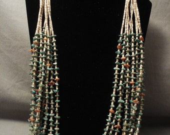Museum Modernistic Navajo Green Turquoise Spiny Oyster Necklace