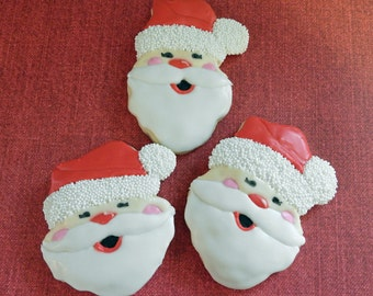 Santa cookies, Santa claus, chrismtas cookies, Holiday cookies