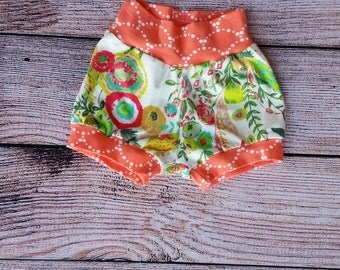 Ready to ship / 12-18 months shorts / girl shorts / girls shorties / girl bloomers / floral shorts / rts