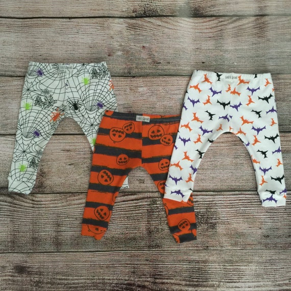 Halloween Leggings/ Baby Toddler Kids Leggings/ Bat