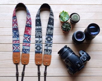 Red, Black Thai Style - Camera Strap