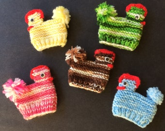 Knit Chicken Egg Holders