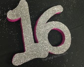 Large Glitter Number 16 f...