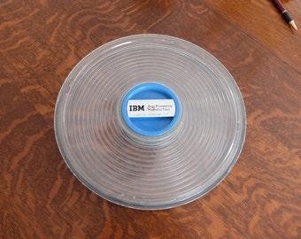 cool older IBM magnetic tape reel container vacuum lock