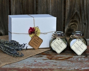 The Jester's Collection: 40 Servings of Premium Organically Homegrown Herbal Loose Leaf Tea in Jar Gift Set