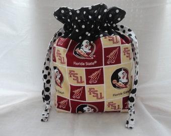 Draw String Bag, Draw String Purse, Knitting Bag, Project Bag, Crochet Bag, Pouch, Yarn storage bag