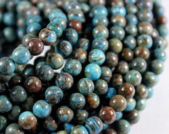 6mm Blue Sky Jasper Gemstone Beads - 11.5 inch Full strand - Round Gemstone Beads