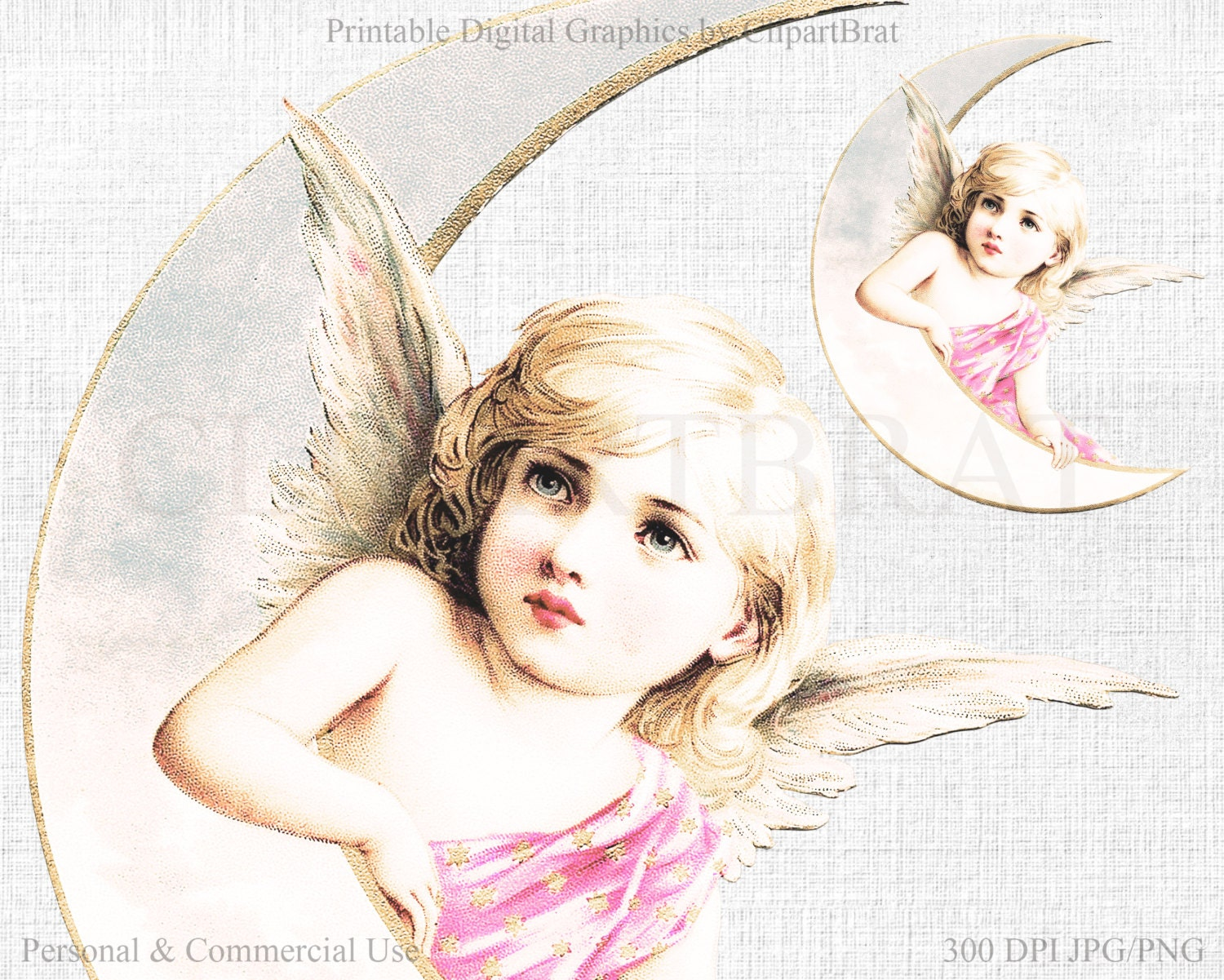 BEAUTIFUL ANGEL Clipart Commercial Use Clipart VICTORIAN Angel Die ...