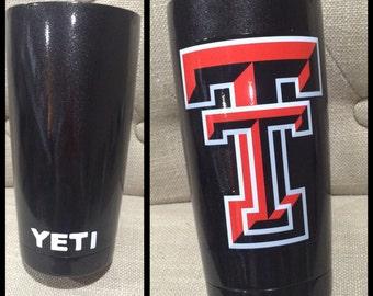 Texas Tech 20oz YETI cup