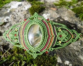 Macrame Bracelet with semi precious stone
