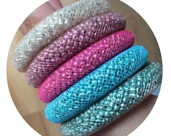Pack 5 bracelets mesh Bluefish
