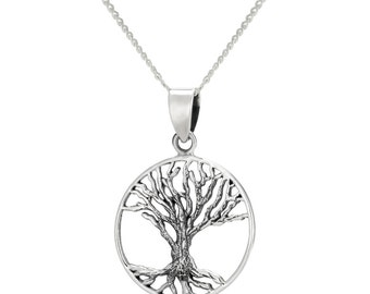 Tree Of Life Pendant Necklace, Sterling Silver Pendant Necklace, Tree Of Life Pendant, Silver Tree Of Life, Women's Silver Necklace