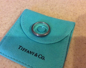 TIFFANY & CO RING Sterling silver Charcoal Elsa Peretti Spain