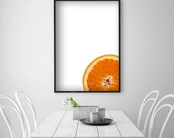 Citrus Digital Poster Orange Prints Orange Wall Art Orange Wall Decor Fruit Poster Fruit Photography Fruit and Vegetable Prints Fruit Prints