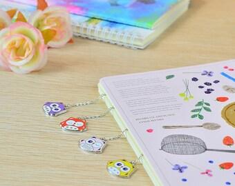Hanging Bookmark OWL PINK | Chain Bookmark | Cute Bookmark | Owl Bookmark