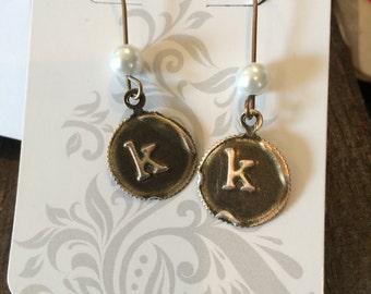 Monogram Stamped Earring