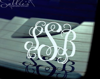 Monogram Car Decal Etsy - Custom car decals india   how to personalize