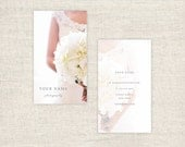 Vertical Photography Business Cards Photoshop Template  - Wedding Photographer Marketing Templates, Photography Branding - INSTANT DOWNLOAD