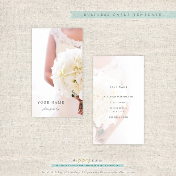 Vertical photography business cards photoshop template for Photography business cards templates for photoshop