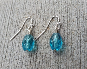 Ice Blue Crystal Dangles