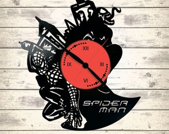 Vinyl Clock/ Spiderman/An interesting element of the decor/ For music and art lovers