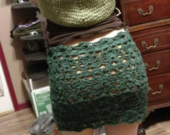 Handmade Crochet festival gypsy skirt :)