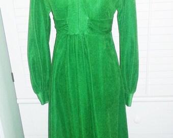 Vintage dress, vintage green evening dress, 1960's gown, 1960's dress, 1960's green dress,