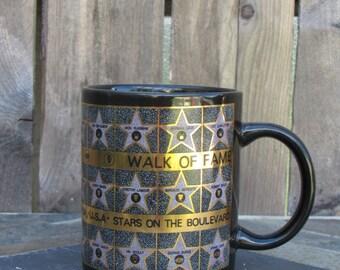 Coffee Mug Hollywood Walk Of Fame Black & Gold Mug