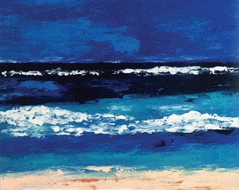 Montego Bay 48 x 48 Inches Acrylic Beach Painting