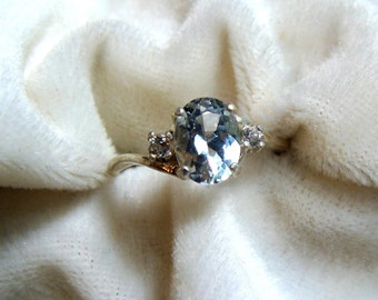 Silver Topaz Ring in Sterling Silver