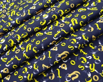 """58"""" Wide Alphabet Pattern Printed Cotton Fabric Dressmaking Material Apparel Sewing Apparel Sewing Indian Cotton Fabric By 1 Yard ZBC7789C"""