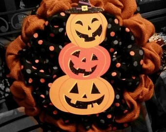 Pumpkin Halloween Wreath