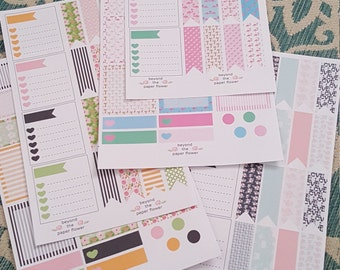 Planner Kits, Vertical, Horizontal, Patterns, All Planners, Stickers, Floral, Love, Flamingos