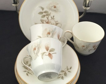Vintage Royal Doulton Bine China Yorkshire Rose Tea Set
