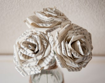 Paper Rose Harry Potter Paper Rose Handmade from recycled Paper