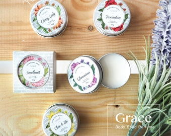 Grace - SOLID PERFUME in 5 different scents-16grams. or 0.56oz. -Alcohol Free- guaranteed by FDA