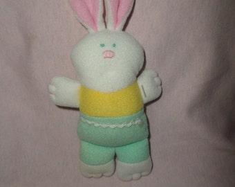 Vintage Hallmark Bunny plush Baby toy Squeaks 1989