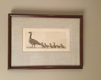 "Sale....Original ETCHING Titled ""Parade"" by R. H. BADEAU Pencil Signed, Titled and Numbered 12/300, 13 in x 10.5 in"